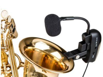 SAX100 - bezprzewodowe nagłośnienie saksofonu, trąbki czy puzonu